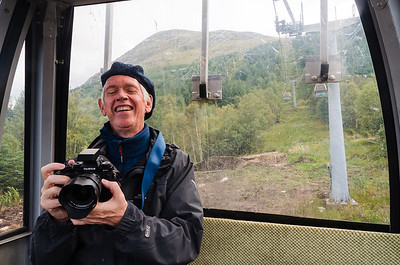 Alan takeing a look at his camera as we are on the way down