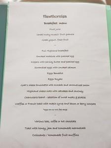 Hawthornlea Breakfast Menu
