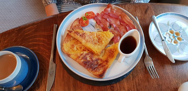 French Toast, Bacon and Maple Syrup