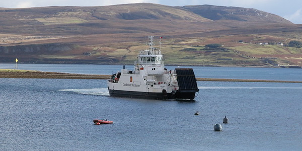 MV Hallaig approaching Sconser