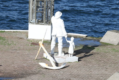 Statue at Mallaig Harbour