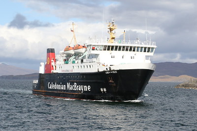 MV Lord of the Isles approaching Maillaig