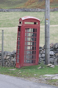 Phonebox on the east side of Loch Eriboll