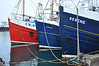 Interesting line-up of fishing boats - Gleaner, Context & Serene - berthed in Mallaig harbour