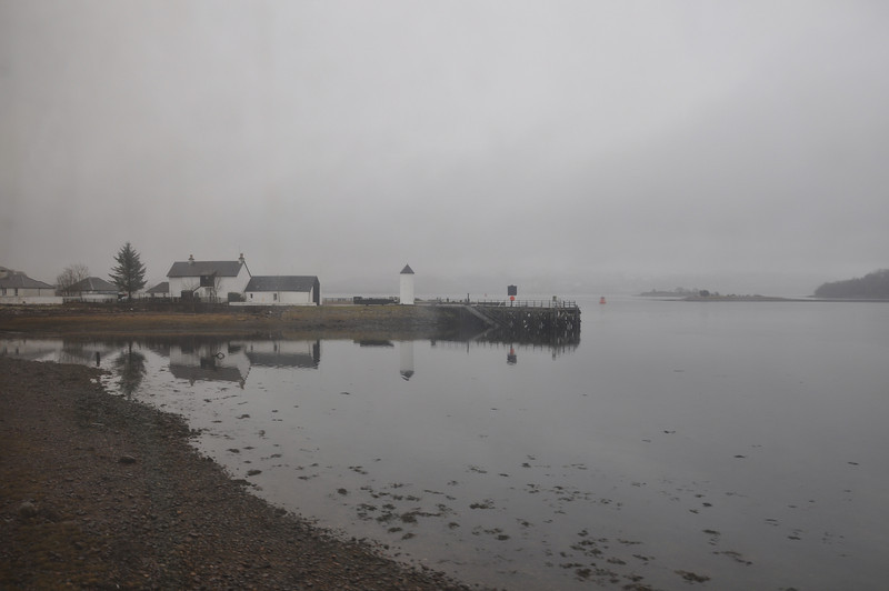 The Caledonian Canal joins the sea here