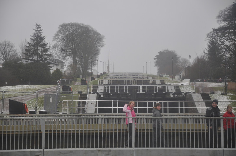Staircase locks near Fort William on the Caledonian Canal