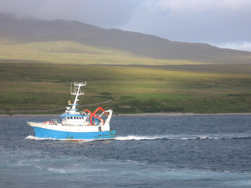 Research vessel AORA passing us at Port Askaig, on the return journey.