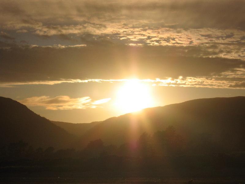 Sunset over Carradale.