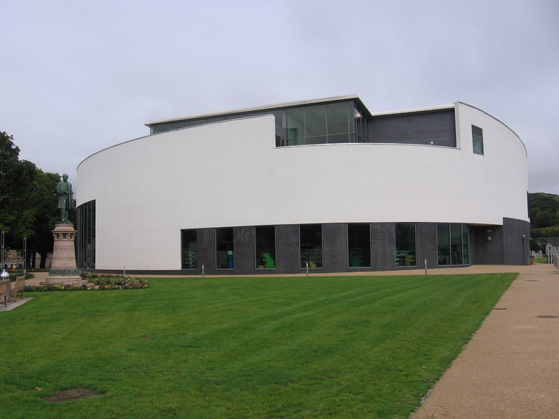 The Aqualibrium,Campbeltown's leisure centre, which houses a library, swimming pool and fitness facilities.