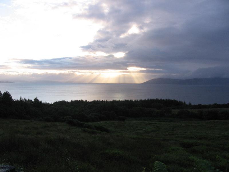 Sun rise over Arran.