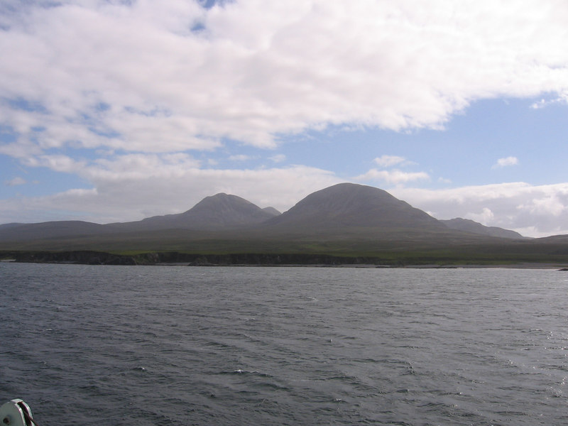 The Paps of Jura. After a short stop at Port Askaig, we head for Colonsay onboard HEBRIDEAN ISLES.