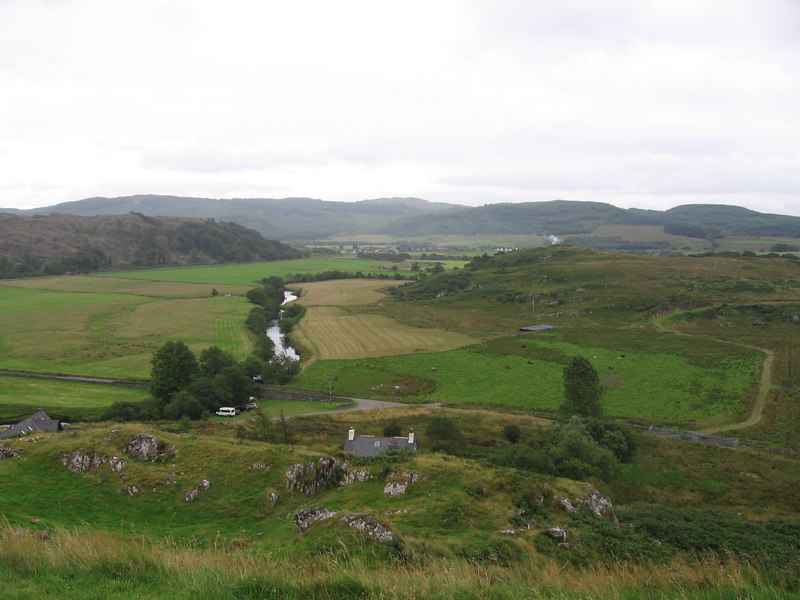 View from Dunadd Hill Fort, south of Kilmartin.