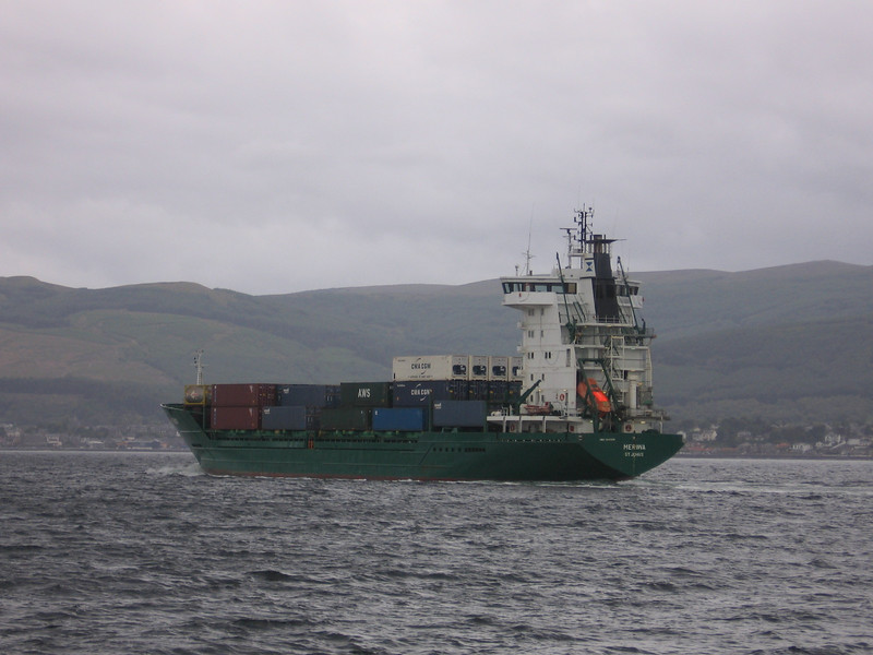 MERIWA on the Clyde, taken from the ferry to Dunoon.