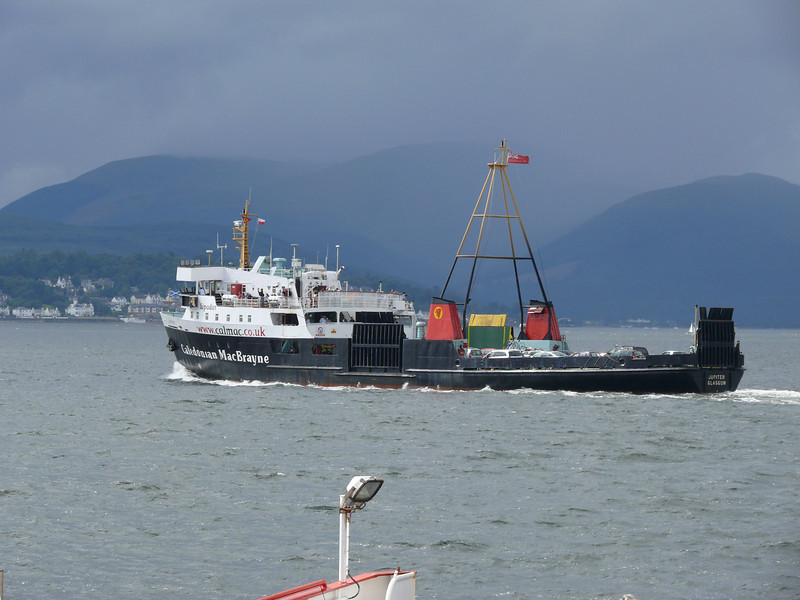 JUPITER on her way from Gourock to Dunoon.