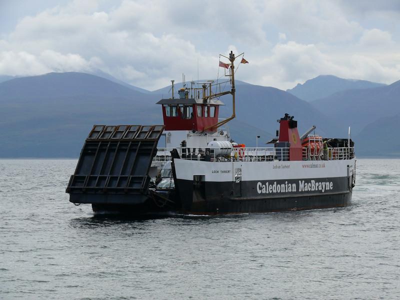 LOCH TARBERT arriving at Claonaig from Lochranza on the Isle of Arran.