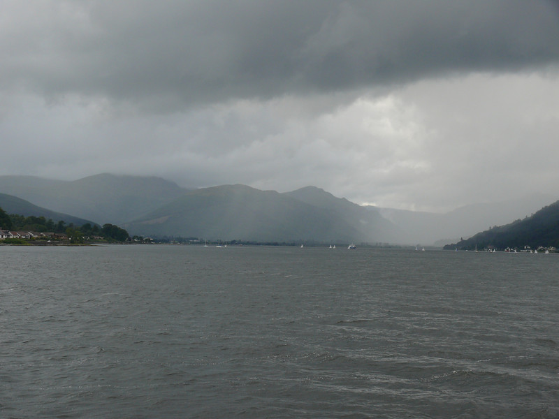 Looking up Loch Long.