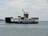 The Gigha ferry, LOCH RANZA departs Tayinloan.