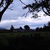 Evening sky over Carradale Golf Course
