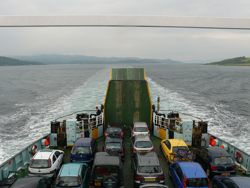 The stern of HEBRIDEAN ISLES on the way to Port Ellen.