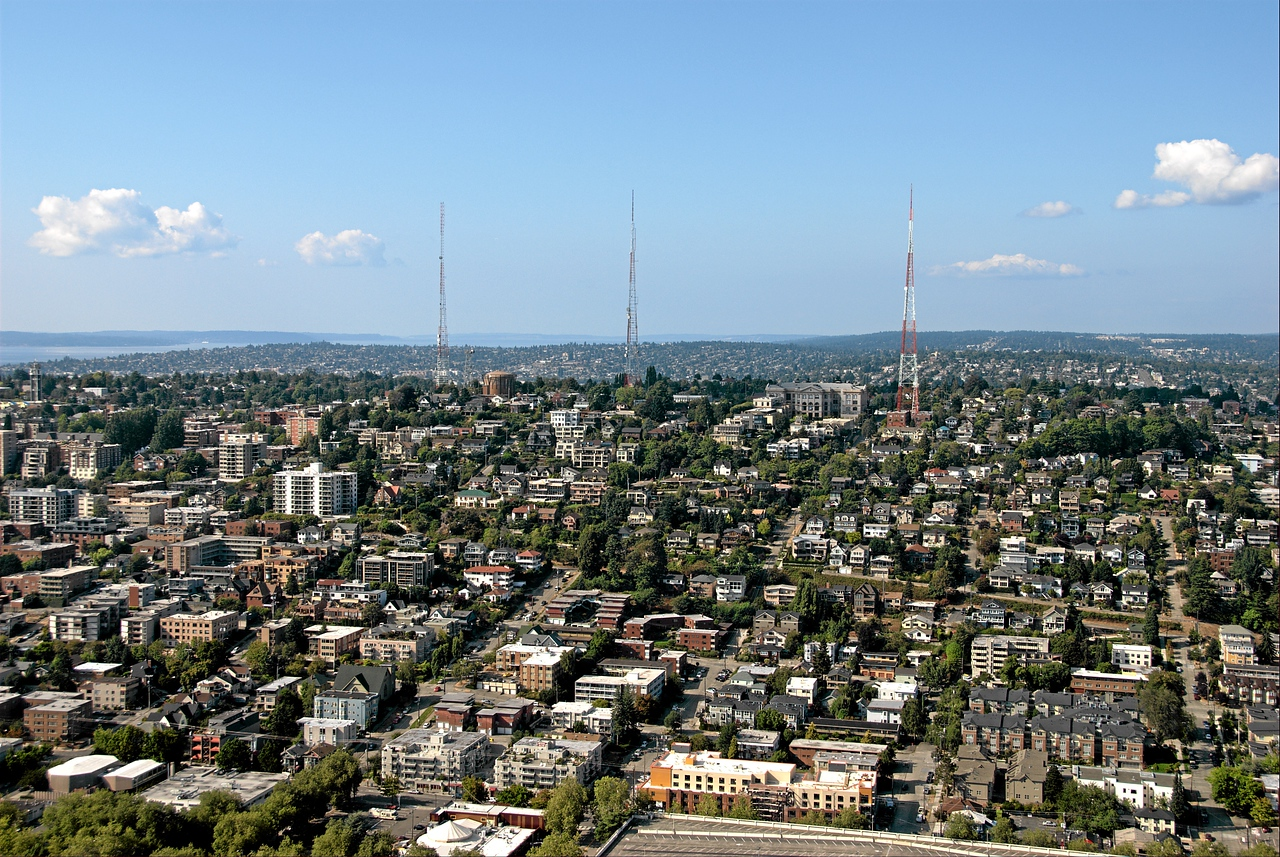 Queen Anne hill from the Space Needle