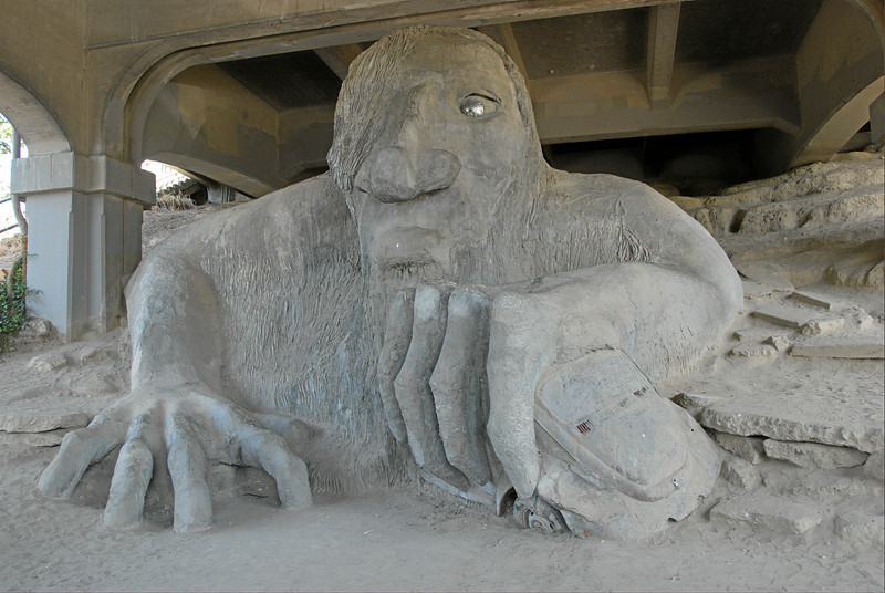Fremont Troll, under the Aurora Bridge