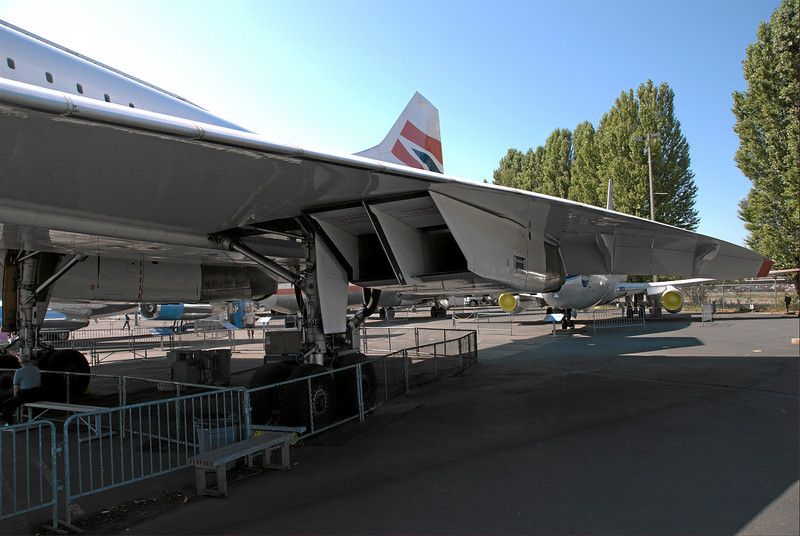 Concorde, wing and engines