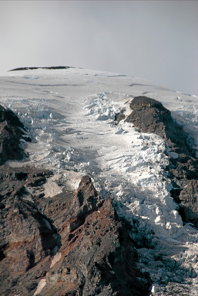 View from Paradise, close up of glacier
