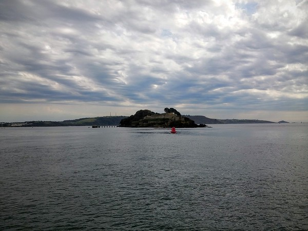 Drake's Island from the Calstock Ferry