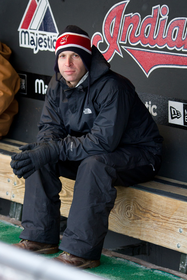 Pondering what it's like to be a big league player.  Down in the dugout, Jason.