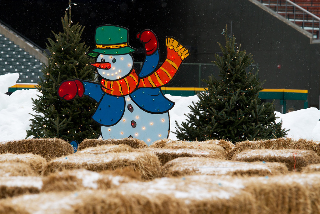 Is Frosty fencing?  Maybe he's just telling us to go a certain way.