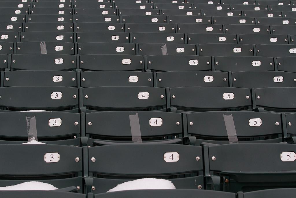 More empty seats.