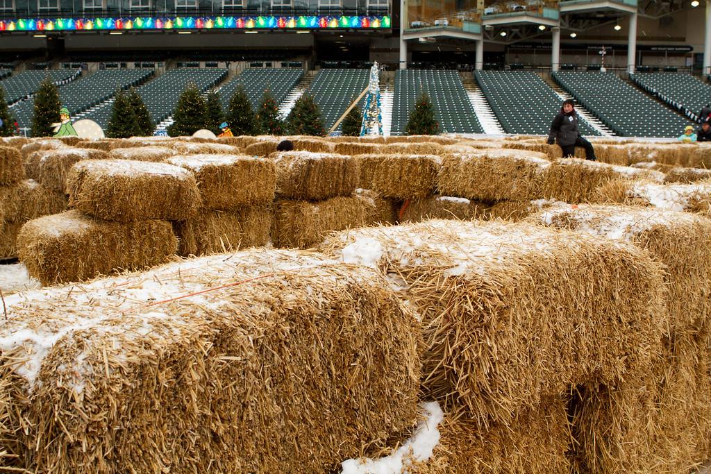 Hay... lot's of it.