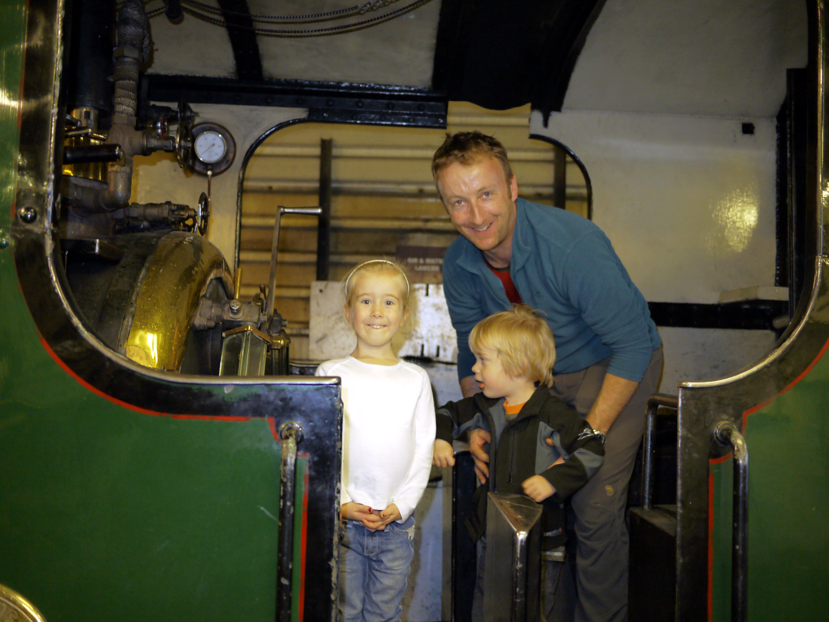 On the footplate of Blanche, Boston Lodge, Ffestiniog Railway
