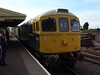 Class 33 D6566 arrives at Dunster on the 1755 Minehead-Bishops Lydeard