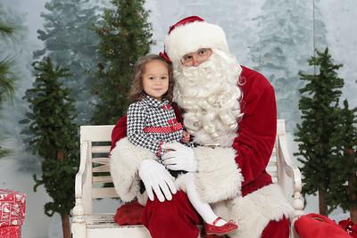 Sophie and Santa 2014