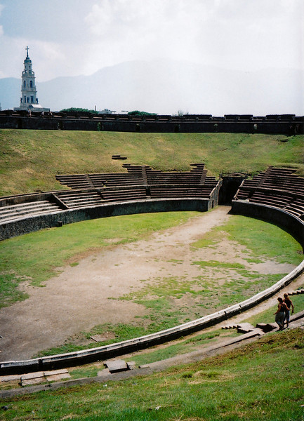 The amphitheatre at Pompeii