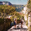 The path to the top of the hill on Capri