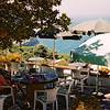 Half way up the hill on Capri we found this shady cafe where we had panini con mozarella e pomodori. Delicious.