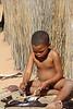 !Xaus Lodge - Bushman Village Visit - Child Learning Craft Making