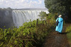 Victoria Falls - View From Rainforest Park - Veena on the Pathway