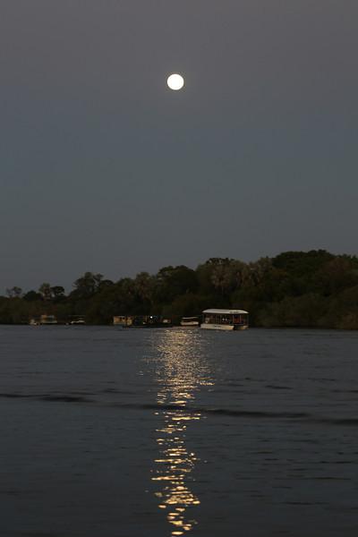Victoria Falls - Zambezi River Sunset Cruise - Moon Over Zambezi River