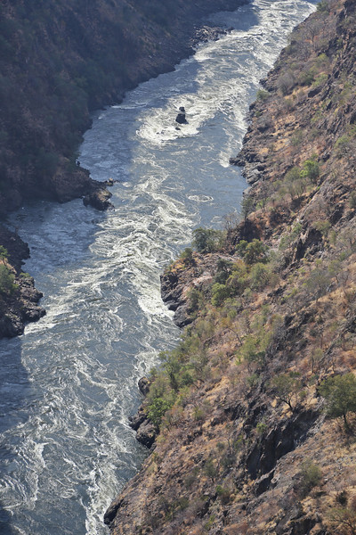 Victoria Falls - Helicopter Tour - Zambezi Gorge Below Falls 91