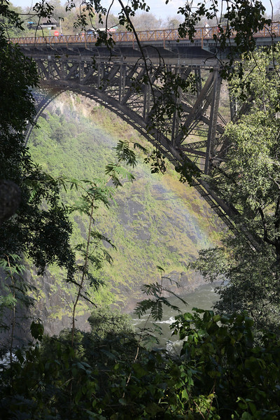 Victoria Falls - View From Rainforest Park - The Bridge