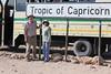 Drive North Towards Kuiseb Canyon - Cliff and Veena at Tropic of Capricorn