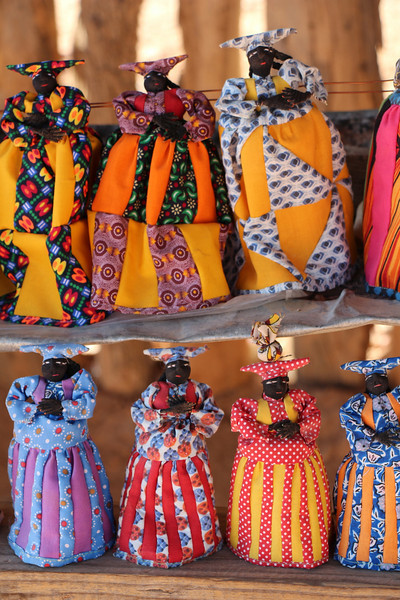 Damaraland - Drive Through Area - Dolls at Souvenir Stand