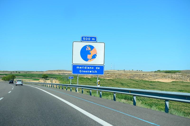 Meridian de greenwich Spain