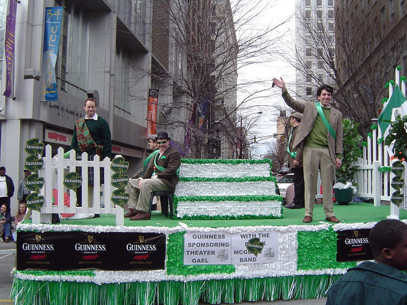 Matt, Ryan, and Doug on Theatre Gael's 2005 Float