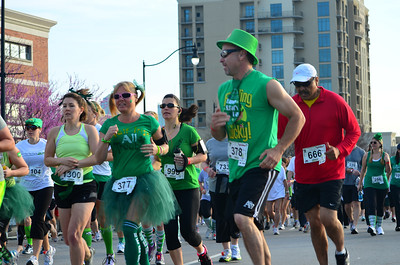 A few participants didn't seem to care about wearing green.