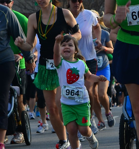 This little runner was enjoying everything a lot.