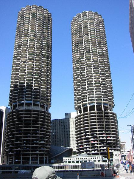 Corn Cobs?  No, Marina Towers.